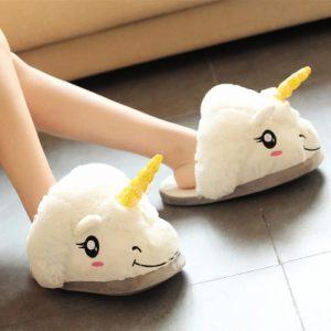 des chaussons licornes